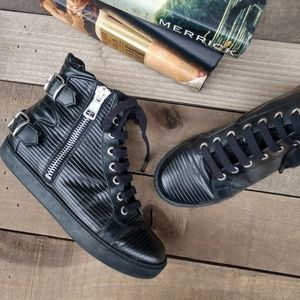 ALL SAINTS Keiko Leather Moto High Top Sneaker 37